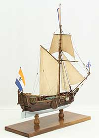 Model ship Dutch Statenjacht of 1700