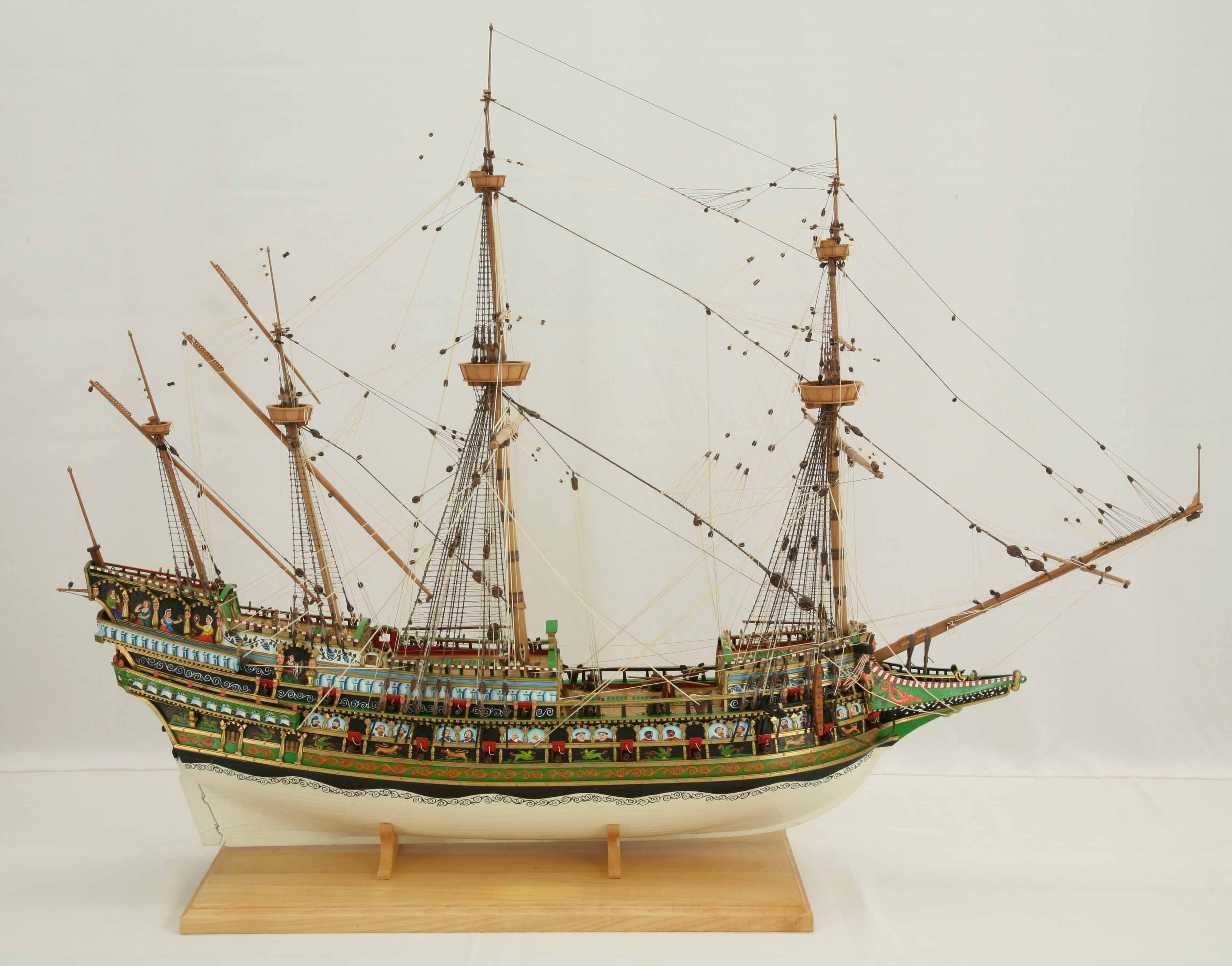 photos of ship model galleon of 1610