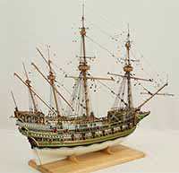 Ship model galleon of 1610