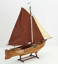 Ship model Tholense Hoogaars TH 64 of 1907