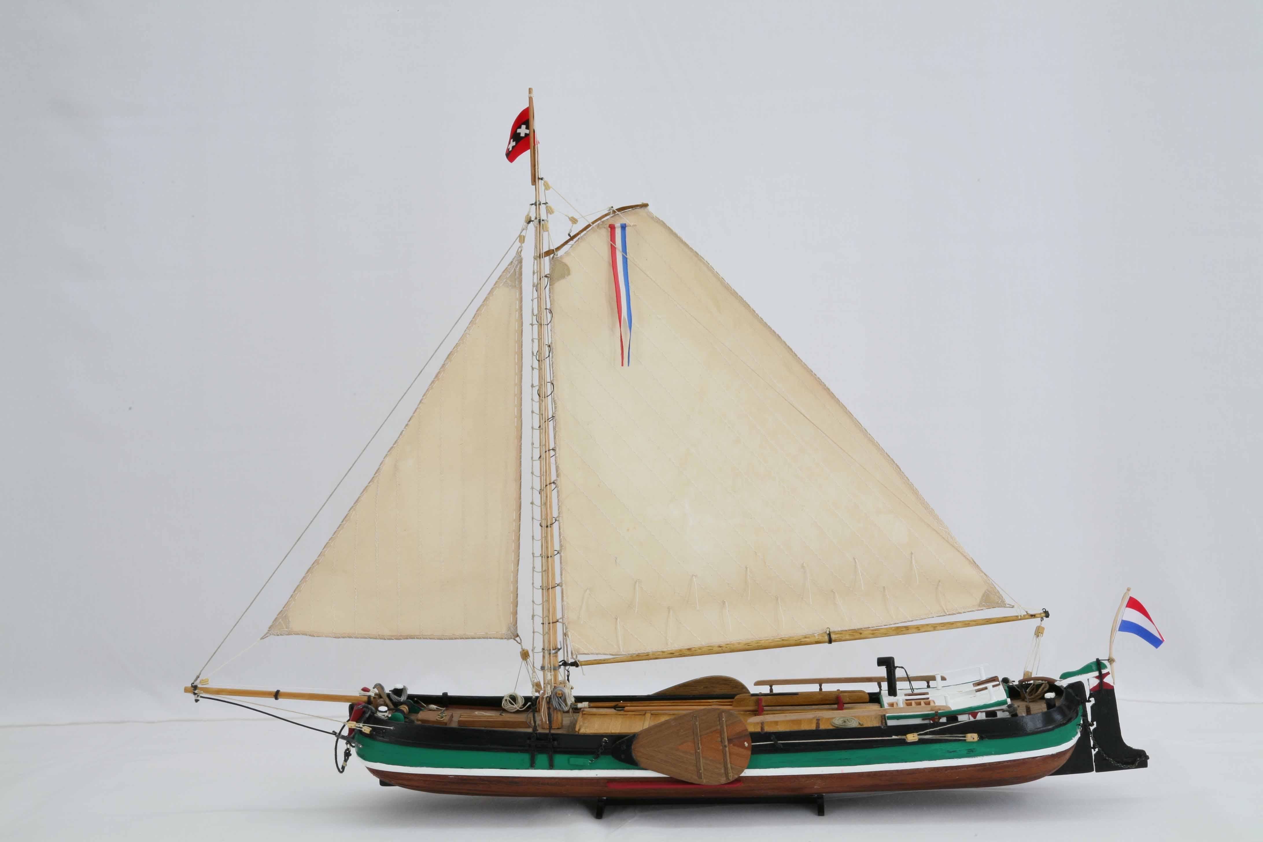 Schiffsmodell amsterdamer tjalk 19 jahrhundert for Mobel 19 jahrhundert