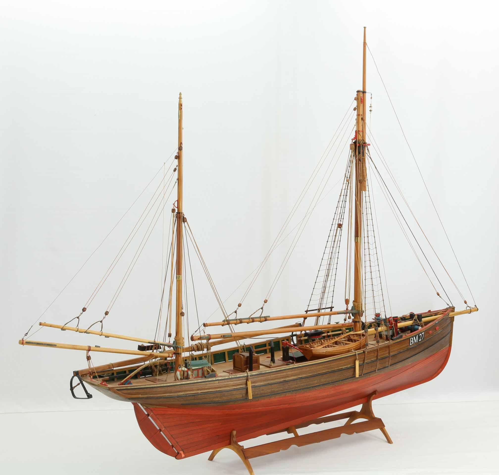 Ship model trawler IBEX of Brixham, built in 1896