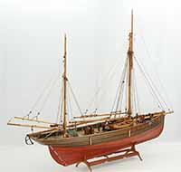 Ship model English Trawler IBEX of 1896