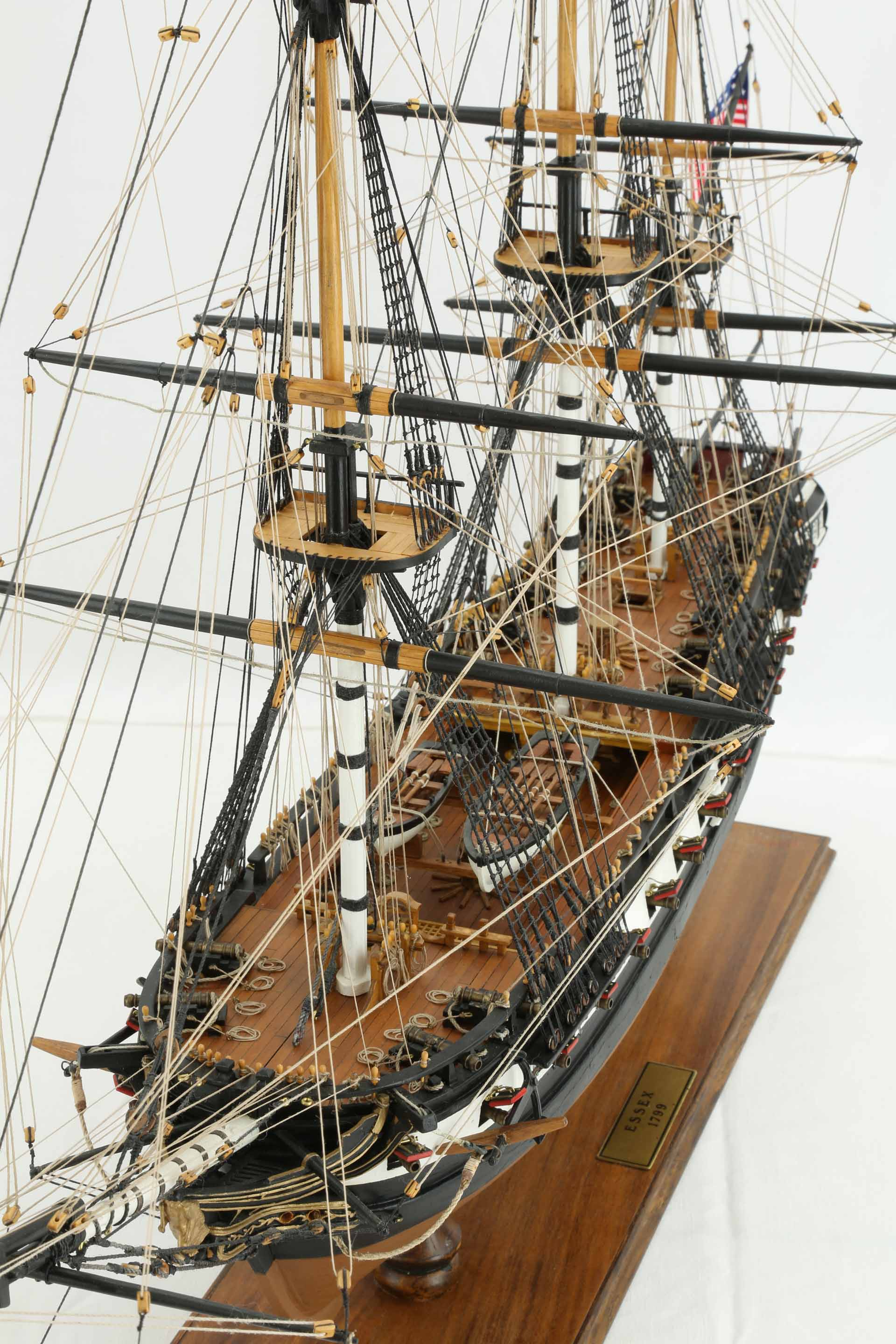 Photos Ship Model American Frigate Essex Of 1799  Views Of Details