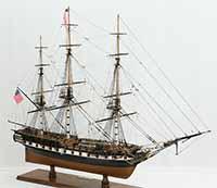 Ship model American Frigate Essex 1799
