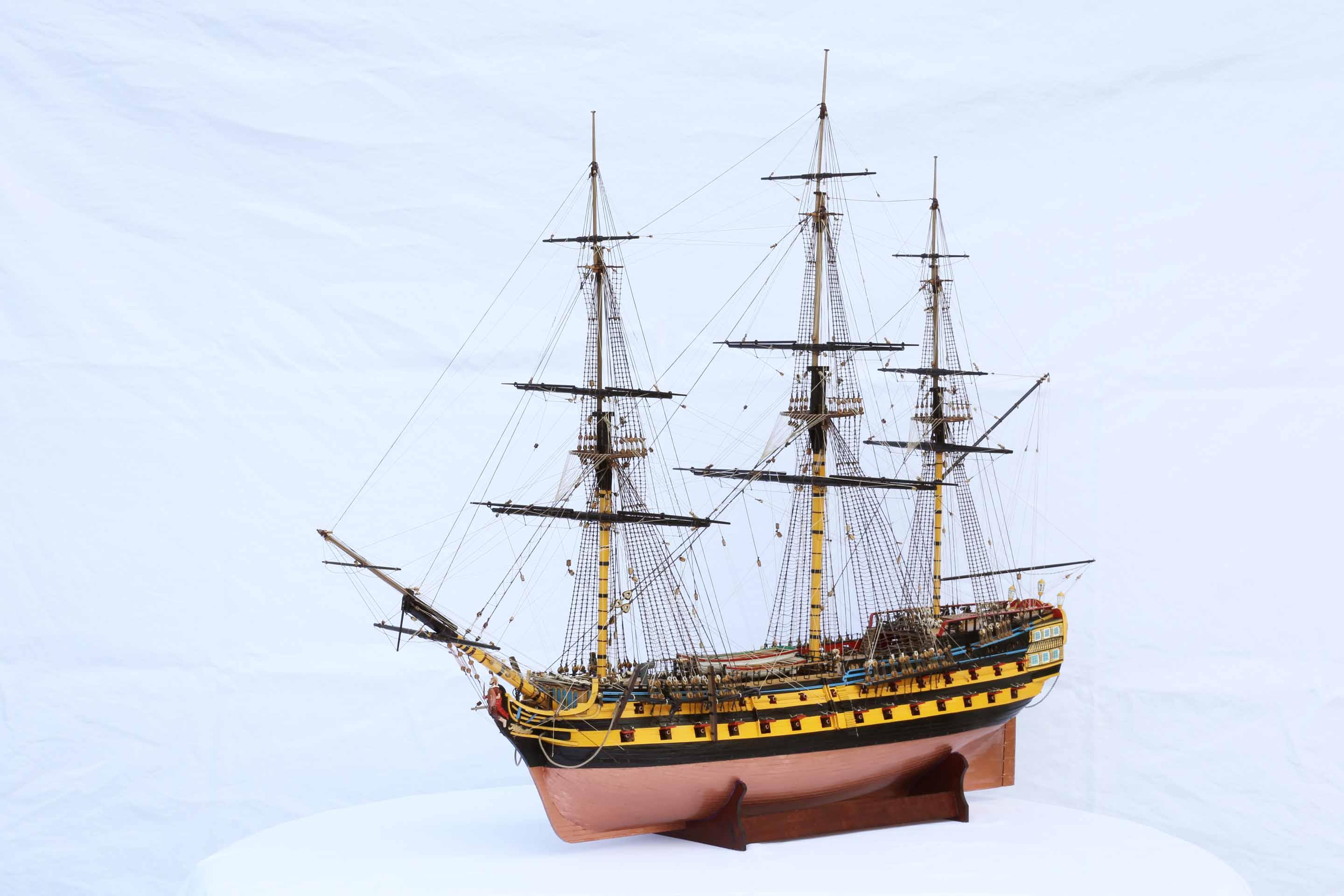 Photos Ship Model HMS Vanguard, A 74-gun Ship Of 1787