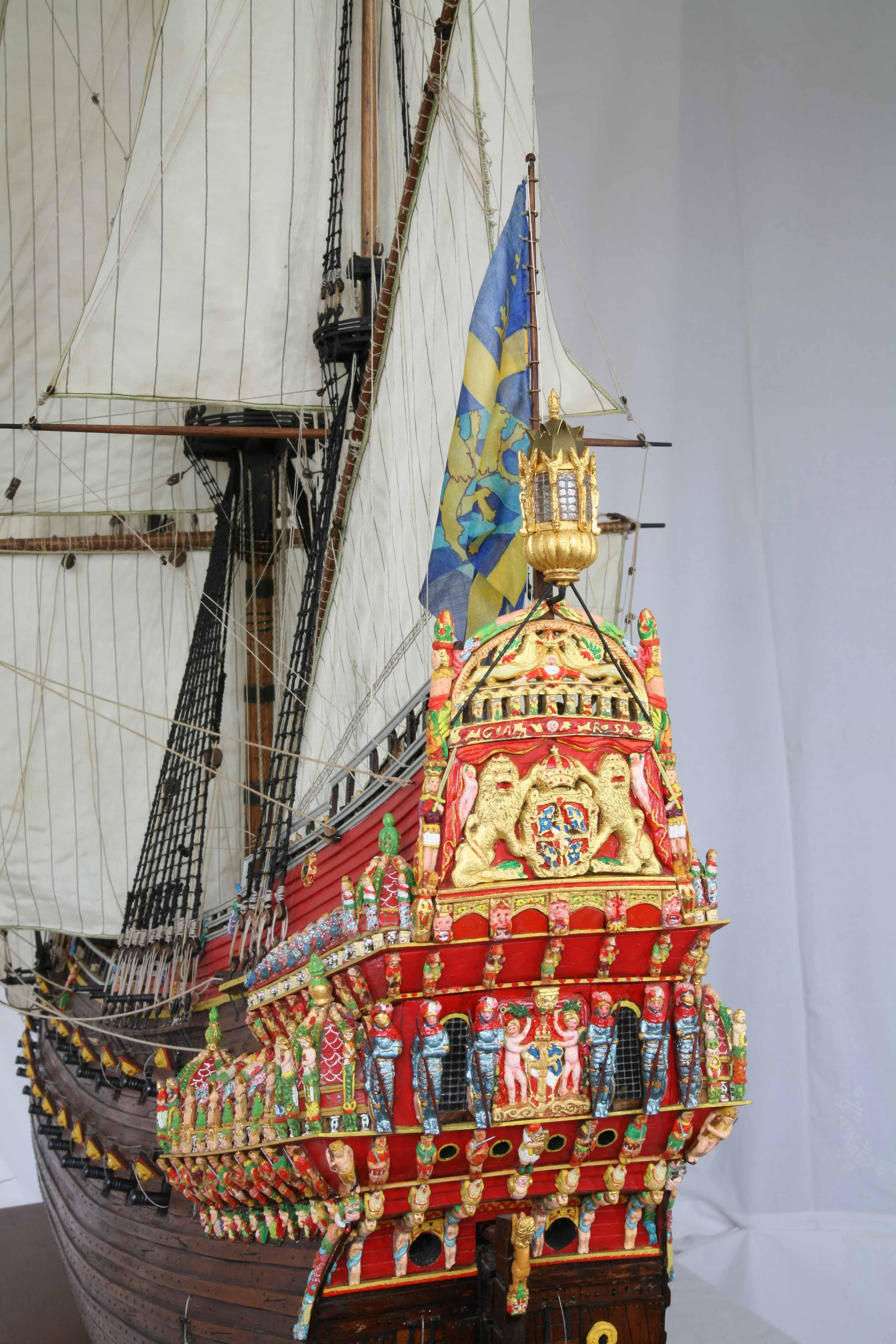 Photos Ship Model Swedish Vasa Of 1628  1   35 Scale  Details