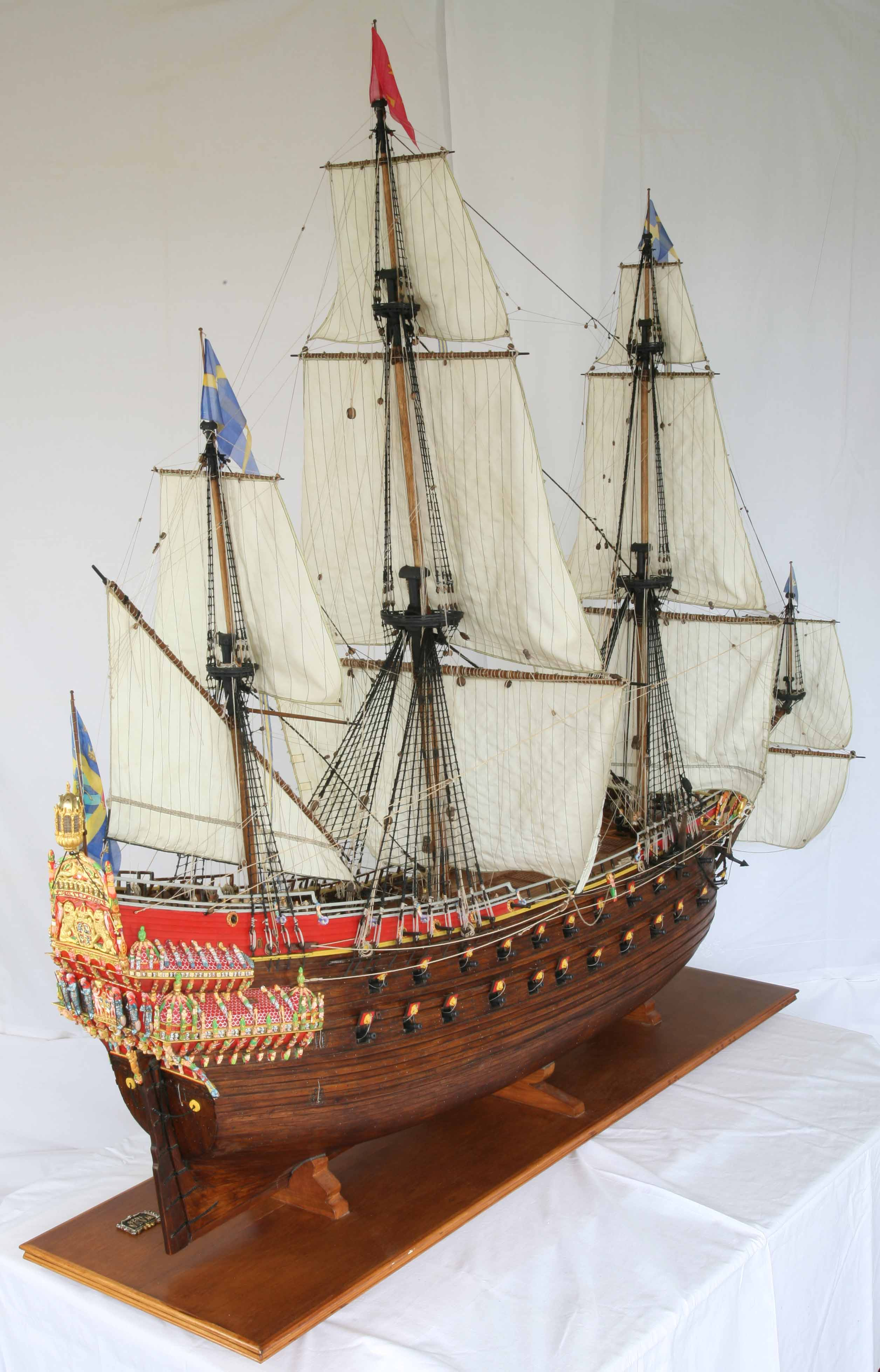 Ship Model Swedish Vasa Scale Entire