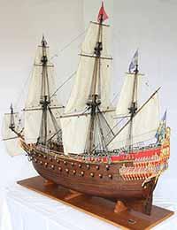 Schiffsmodell Wasa von 1628