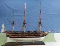 Schiffsmodell französisches Sklavenschiff L'Aurore von 1784