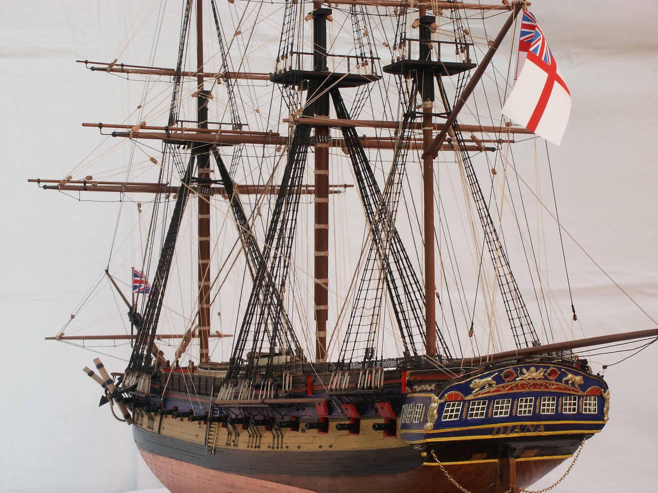 Photos ship model frigate HMS Diana