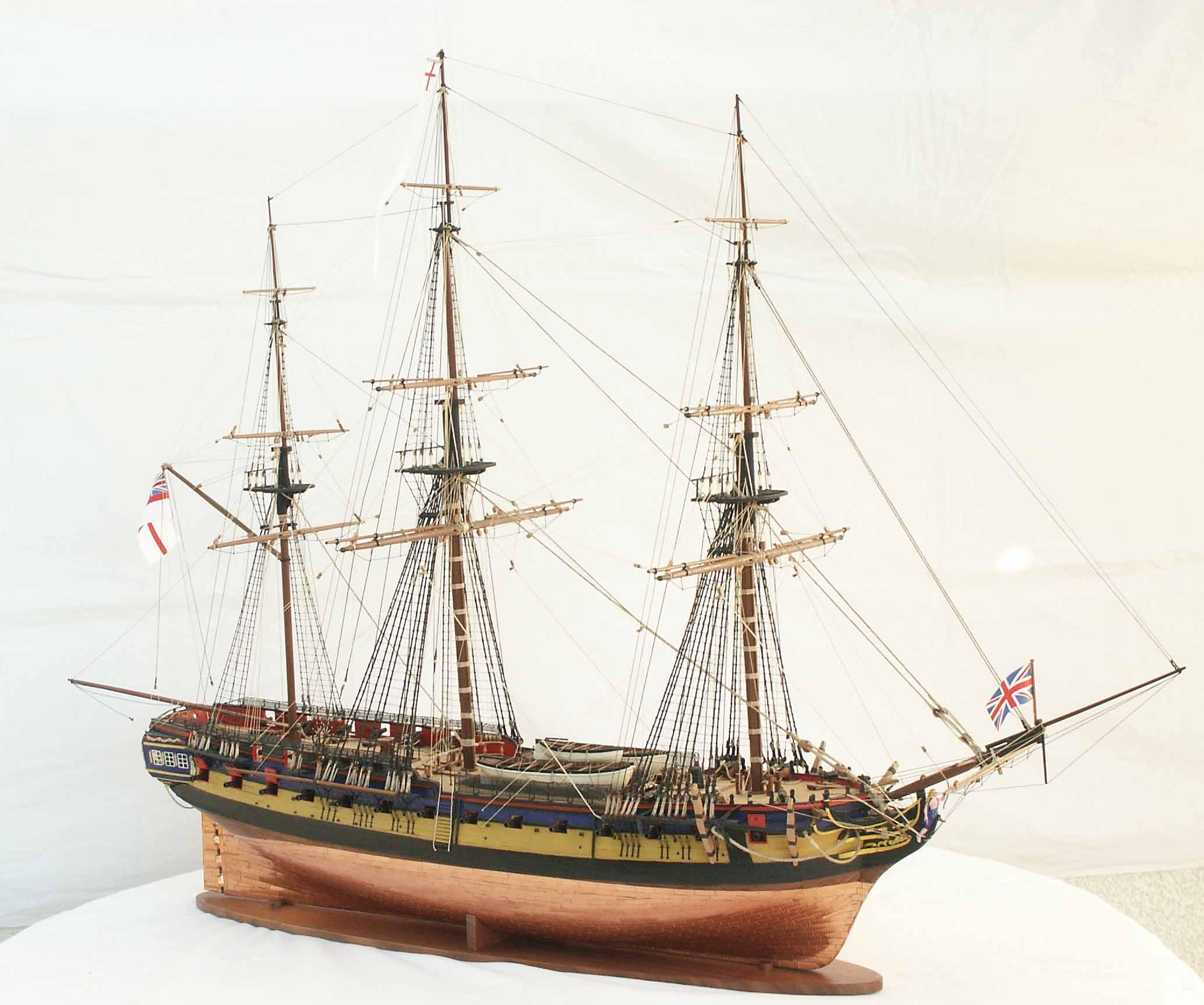 Ship model frigate HMS DIANA, sailing ship