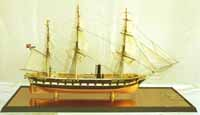 Ship model Prussian corvette Elisabeth of 1869