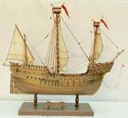 Schiffsmodell Hanseschiff von 1470