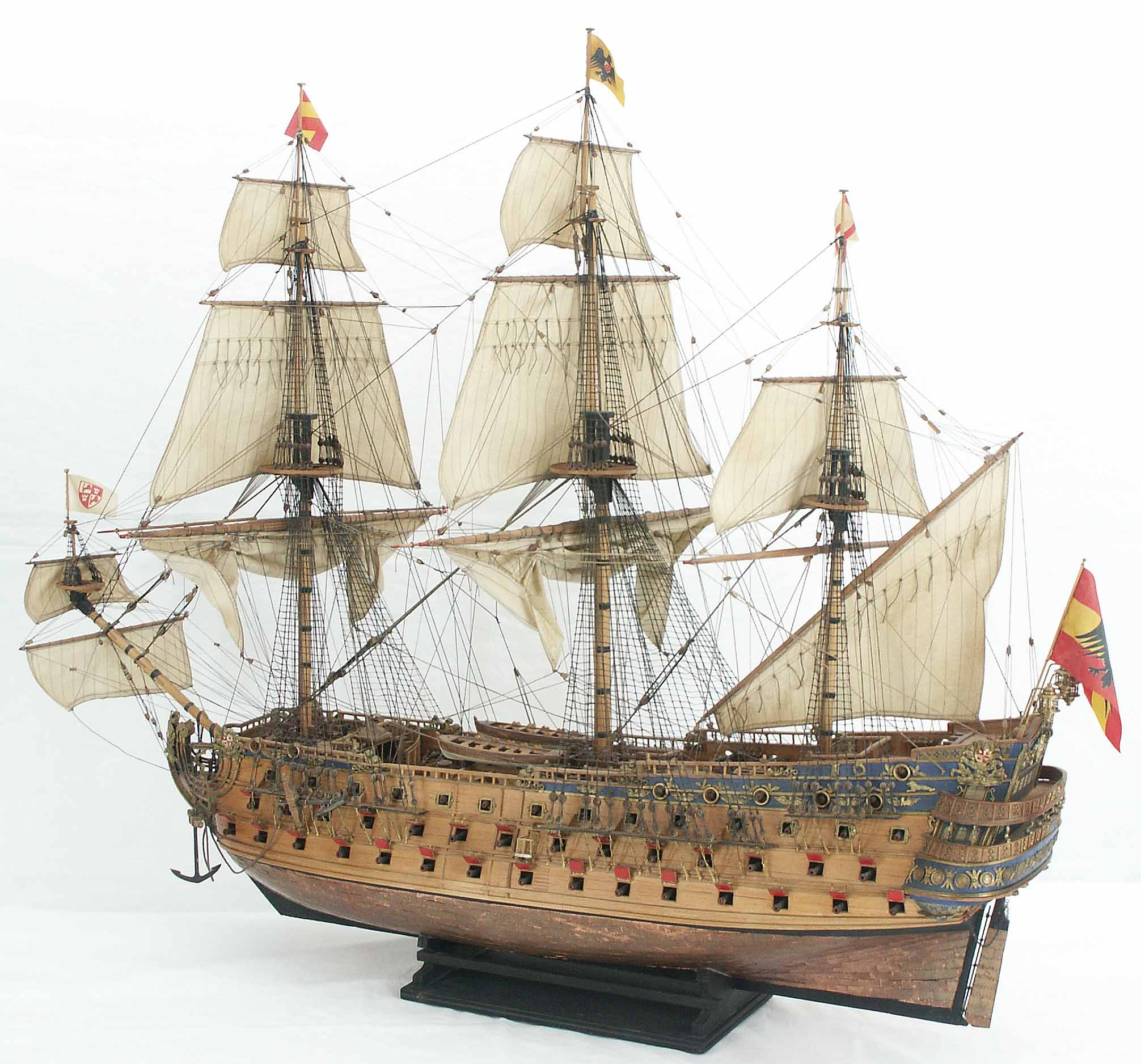 San Felipe Spanish 1st Rate 1690 With Plans Ships Of The Line