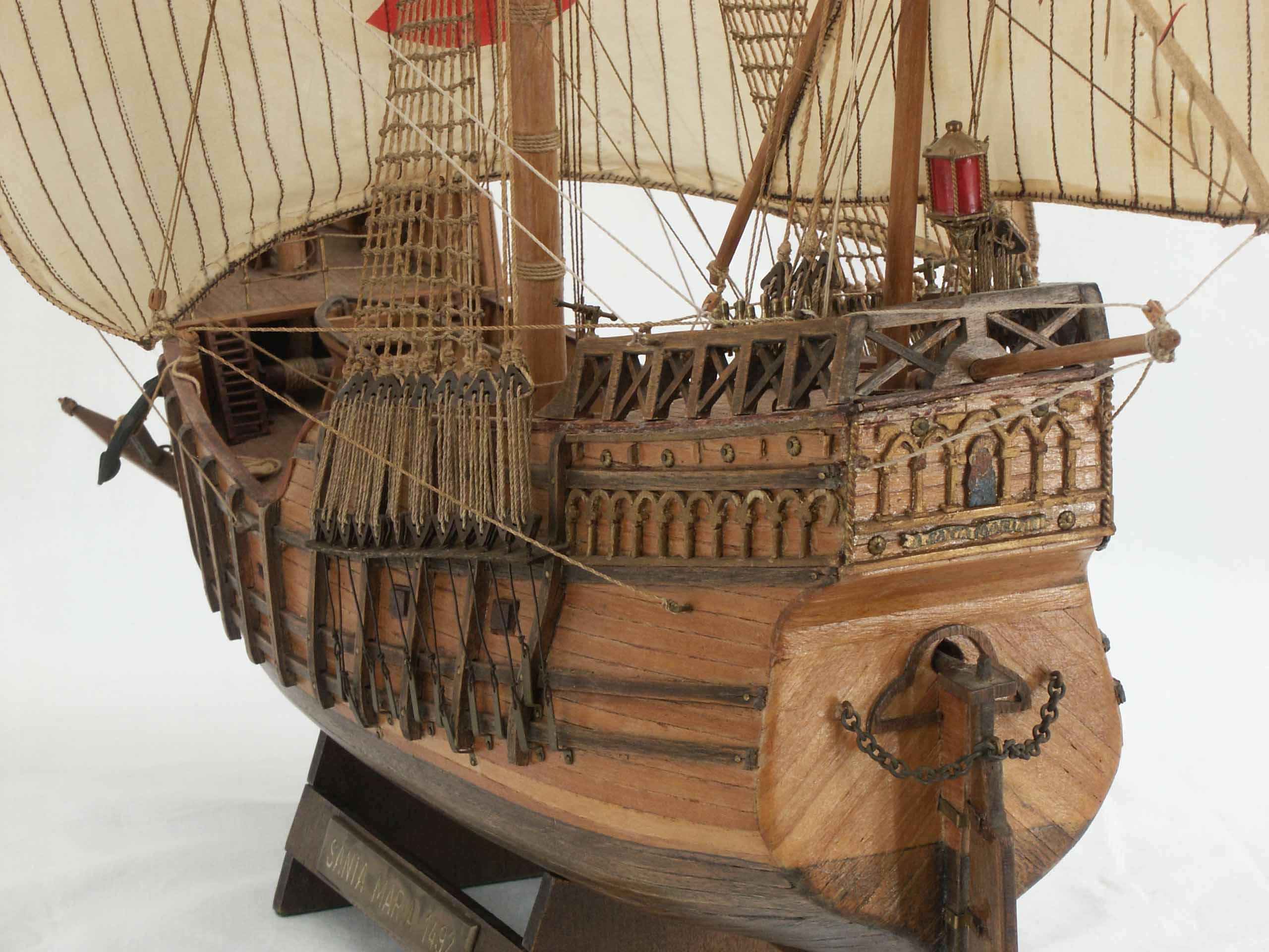 Bilder Schiffsmodell Santa Maria