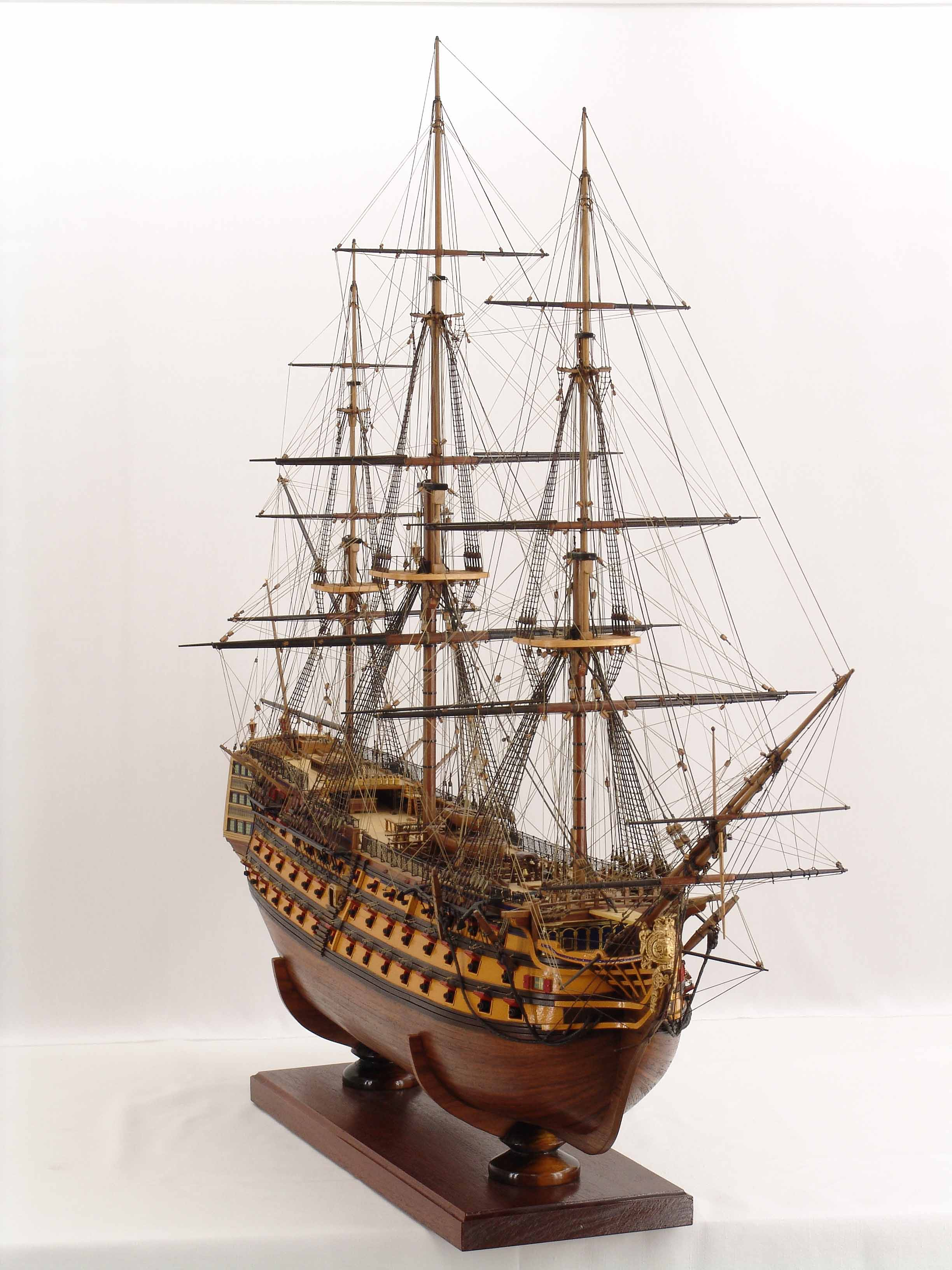 Wooden ship model assembly 2014