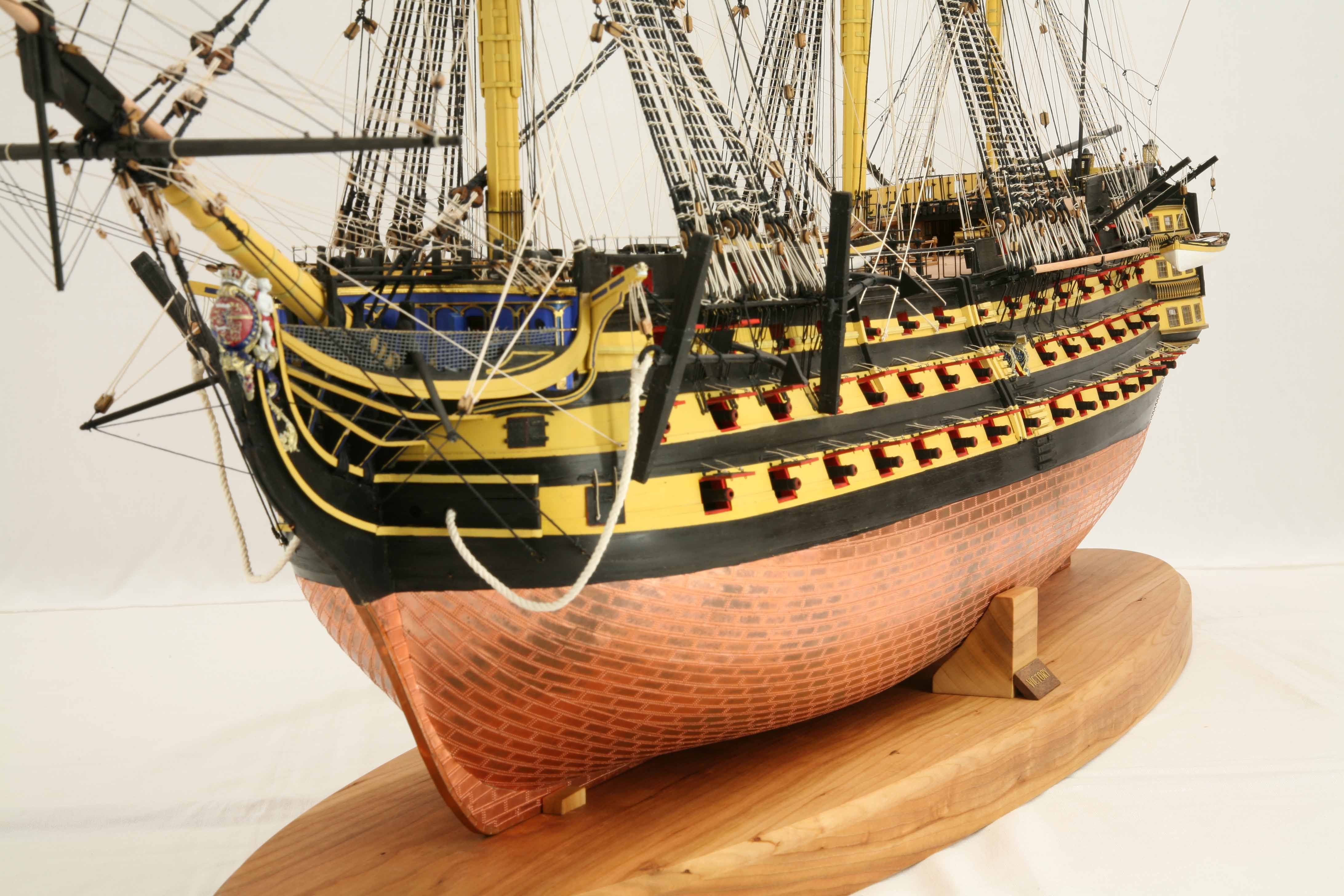 Close-up photos of ship model HMS Victory, 1 : 72 scale ...