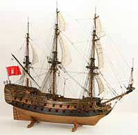 Photo tall ship model, Wappen von Hamburg III of 1720