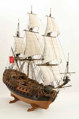 Ship model Wapen von Hamburg III of 1720
