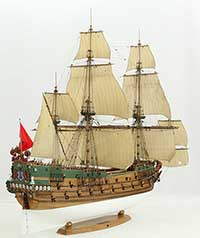 Tall ship model Wappen von Hamburg of 1667