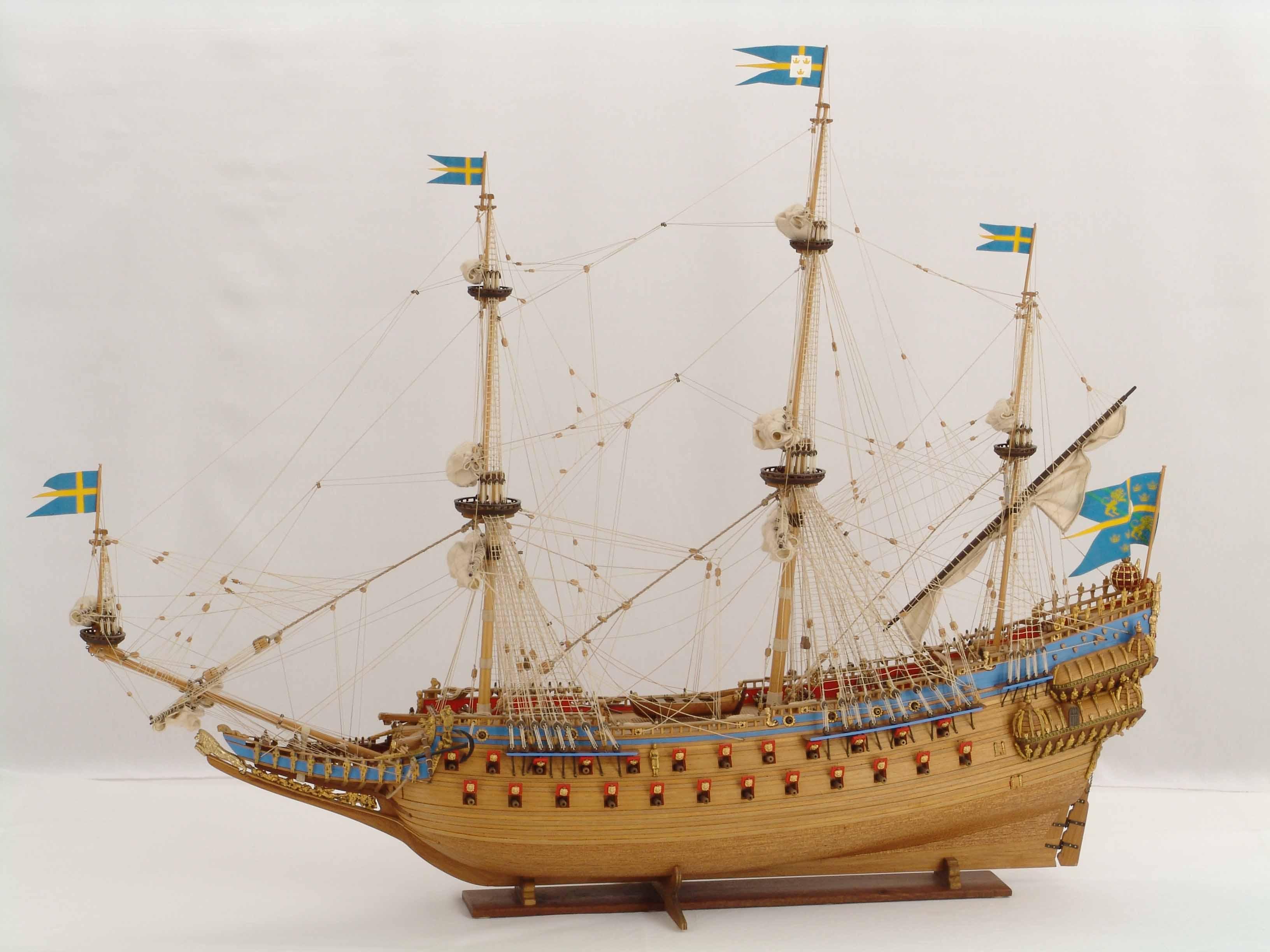 Swedish vasa of 1628 ship model for Vasa ship
