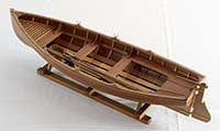 Model of a Whitehall Boat from New York of the 1860s