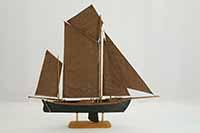 Schiffsmodell deutsches Zeesenboot von 1880
