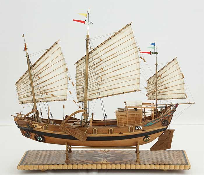 Schiffsmodell chinesische flussdschunke 19 jahrhundert for Mobel 19 jahrhundert