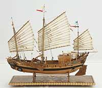 Ship model Chinese river junk of 19th century, Hangzhou junk