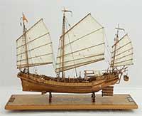 Ship model Chinese seagoing junk of 1834, Hainan junk, Hongkong junk